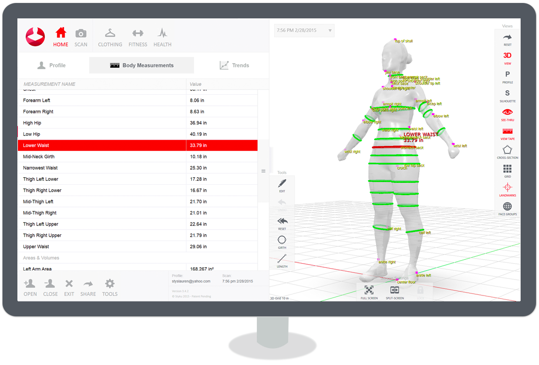 Studio Element Personal Training 3-D Body Scan Technology